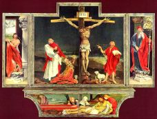 The Isenheim Altarpiece, painted by Mathis Grunewald. One of my favorite depictions of the Passion.